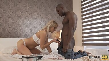 BLACK4K. Coquettish blonde knows black dick will get in her