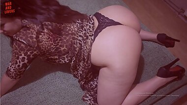 Beauty nightclub whore on heels gets hard fucking at home of her new acquaintance